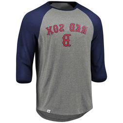 Boston Red Sox Men's 3/4 Sleeve Raglan Baseball T-Shirt