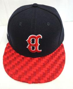 Boston Red Sox Men's New Era 59FIFTY 7 1/2 Fitted Visor Chec