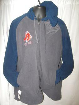 Boston Red Sox Men's MLB Apparel Fleece Hooder Front Zipper