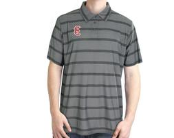 Boston Red Sox MLB Men's Gray Short Sleeve Polo Golf Graphic