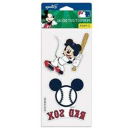 BOSTON RED SOX MICKEY MOUSE 2 PIECE PERFECT CUT DECAL SHEET