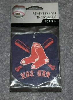 BOSTON RED SOX MLB BASEBALL 2-PACK AIR FRESHENER FRESH SCENT
