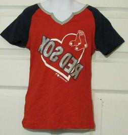 Boston Red Sox MLB Team Athletics Baseball Girls T-Shirt w/M