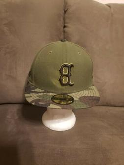 Boston Red Sox New Era MLB Camo 5950 Military Fitted Hat 7 1