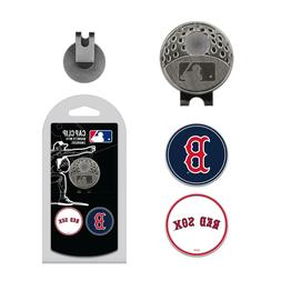 Boston Red Sox - MLB - Cap Clip With 2 Golf Ball Markers