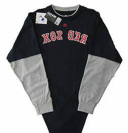 Boston Red Sox Majestic MLB Double Play Long Sleeve T-Shirt