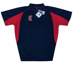 Boston Red Sox MLB Majestic Men's Navy Golf Polo Shirt Big &