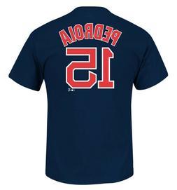 Boston Red Sox MLB Men's Dustin Pedroia #15 Navy Player T-Sh