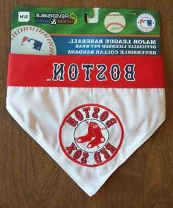 BOSTON RED SOX MLB Reversible Pet Dog Collar Bandana Size S/