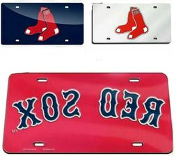 Boston Red Sox MLB Silver, Navy or Red 6x12 Laser Cut Mirror
