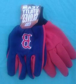 Boston Red Sox MLB Utility Gloves Work or Winter Adult One S