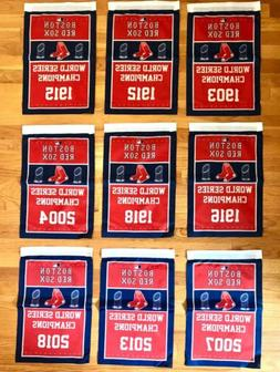 Boston Red Sox MLB World Series Champions 9 Banners/Flags Se