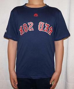 Majestic Boston Red Sox MLB Youth Cool Base T-Shirt - Navy