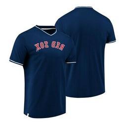 Boston Red Sox Fanatics Navy Blue True Classics V-Neck Jerse