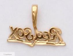 BOSTON RED SOX Necklace Pendant Real 24K Yellow Gold Plated