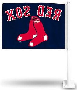 Boston Red Sox Premium 2-Sided Car Flag w/Pole Auto Truck Ba