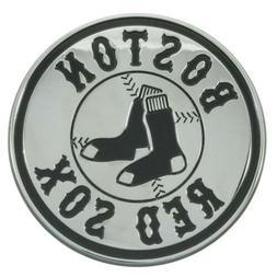 Boston Red Sox Premium Solid Metal Chrome Raised Auto Emblem