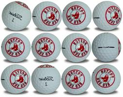 Boston Red Sox Titleist ProV1 Refinished MLB Golf Balls 12 p