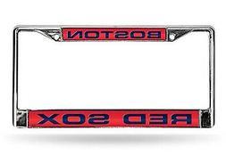Boston Red Sox PV LASER FRAME Chrome Metal License Plate Tag