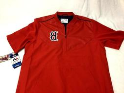Boston Red Sox Majestic Red Home Batting Warm Up Jacket Pull