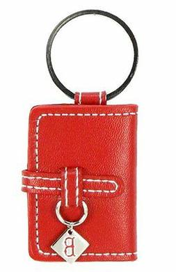 BOSTON RED SOX RED LEATHER PHOTO ALBUM KEY CHAIN NEW & OFFIC
