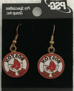 Boston Red Sox Round Logo J Hook Earrings NEW