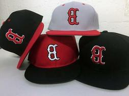 Boston Red Sox Snap Back Cap Hat Embroidered Men Adjustable