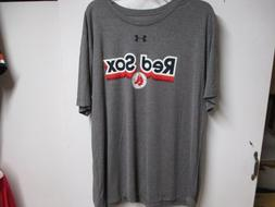 "BOSTON RED SOX  T SHIRT  NWT $30 GRAY ""RED SOX & CIRCLE"" LOG"