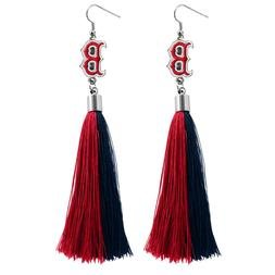 Boston Red Sox Tassel Earrings MLB Authentic Made by Little