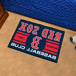 "Boston Red Sox Uniform Inspired 19"" X 30"" Starter Area Rug F"