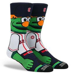 Boston Red Sox Wally The Green Monster Mascot Stance Socks M