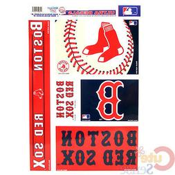 """Boston Red Sox Window Clings Decal 5 Logo on 11""""x17"""" Auto Ca"""