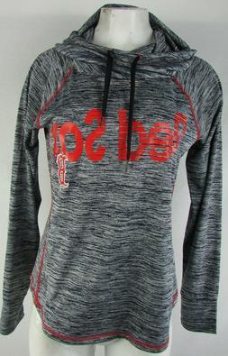 Boston Red Sox Women Hooded Shirt Gray MLB