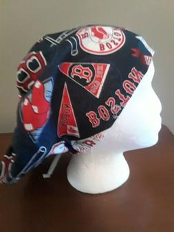 Boston Red Sox Women's Euro/Chef Surgical Scrub Hat/Cap Hand