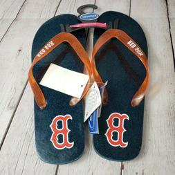 Boston Red Sox Womens 11 / 12 Flip Flop Sandals NWT Slip on