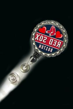 Boston Red sox   work Retractable Reel ID Badge Holder nurse