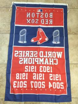Boston Red Sox World Series Champions Banner Flag Decor 3X5