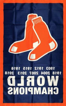 Boston Red Sox World Series Championship Flag 3x5 ft Sports