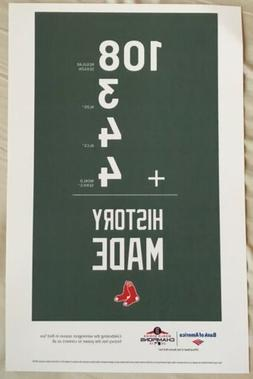 Boston Red Sox World Series Parade Poster Fenway No Bobblehe