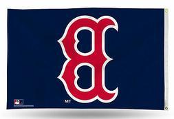 "Boston Red Sox with ""B"" Logo MLB Banner Flag 3' x 5'  ~NEW"