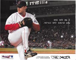"""CURT SCHILLING #38 BOSTON RED SOX """"I AM THE ONE WHO BROKE TH"""