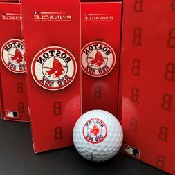 Dozen Boston Red Sox Pinnacle Gold FX Long Golf Balls Box of