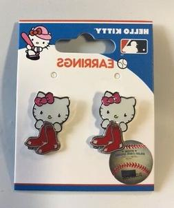 Hello Kitty Boston Red Sox Stud Earrings NEW Jewelry - FREE
