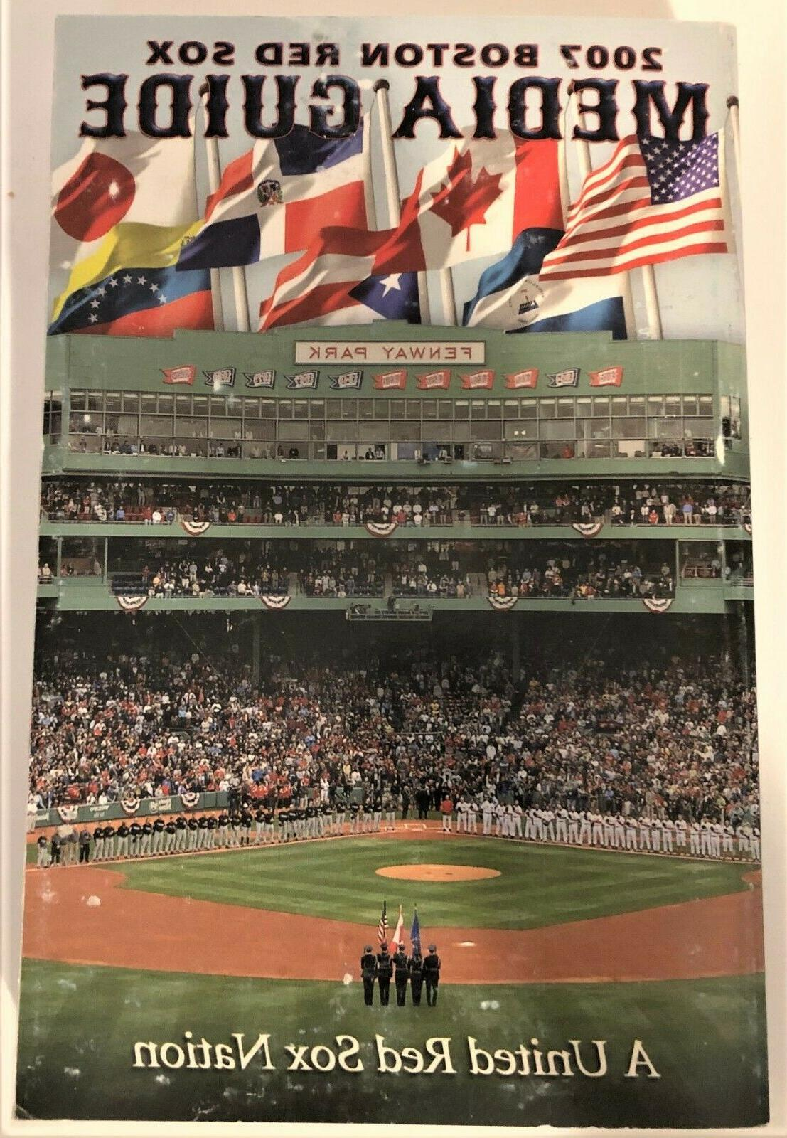 2007 boston red sox media guides