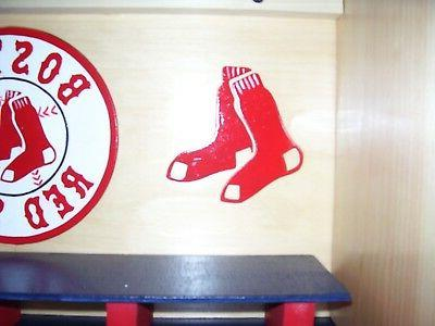 Bobble heads display Boston Sox Handcrafted Pinewood double