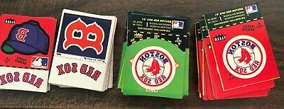 boston red sox 1982 fleer logo stickers