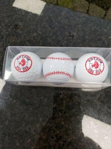 boston red sox 3 golf balls enjoy