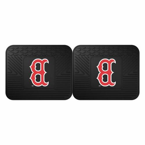 Boston Red Piece Car Headrest Covers