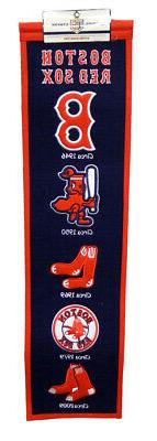 Boston Red Sox 8x32 Embroidered Genuine Wool MLB Team Herita