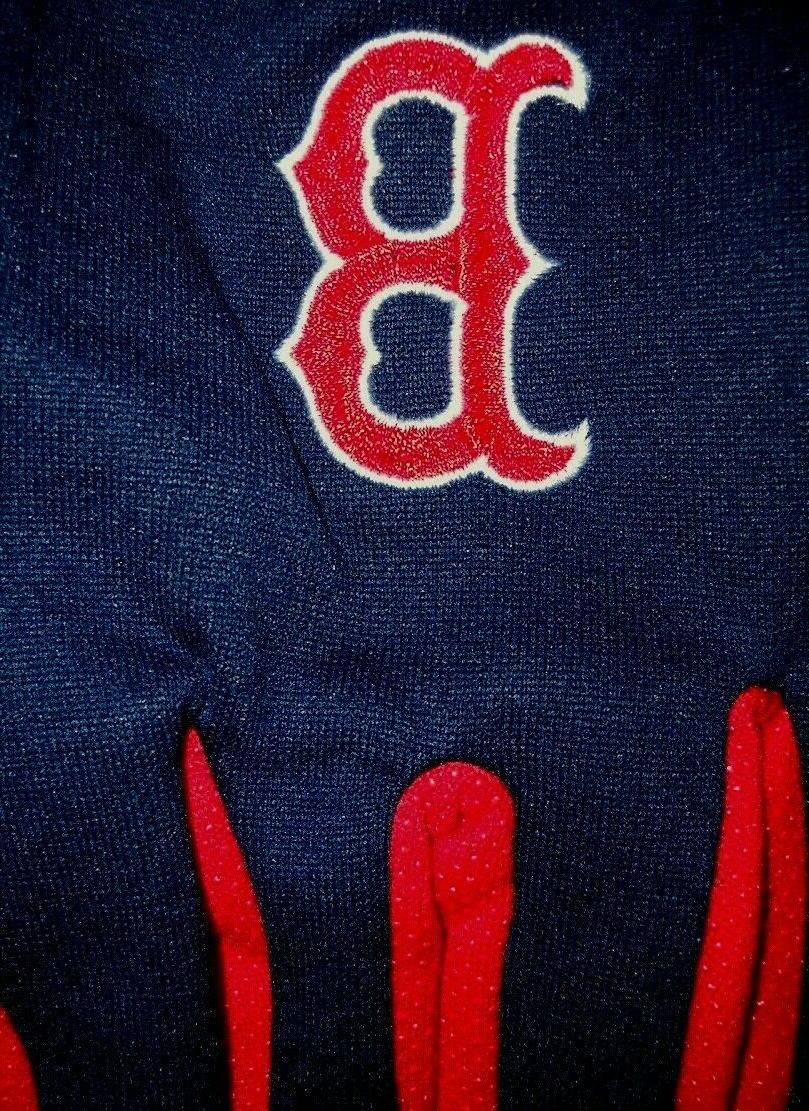 BOSTON SOX ADULT BLUE RED GLOVES EMBROIDERED Bs
